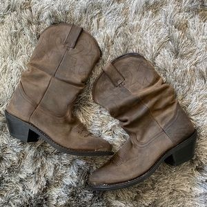 Durango Shoes - Super soft leather slouch western boots